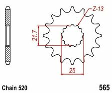 KR Ritzel 16Z Teilung 520 YAMAHA  XT 500 76-89 New... front sprocket