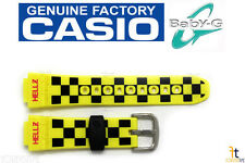 CASIO Baby-G BG-5600HZ-9V Original 14mm Yellow Rubber Watch BAND Strap