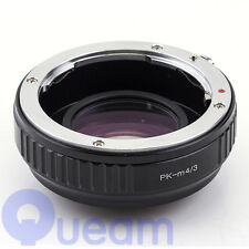 Focal Reducer Speed Booster Adapter Pentax K PK Lens to Micro 4/3 m43 GX1 G3 EP5