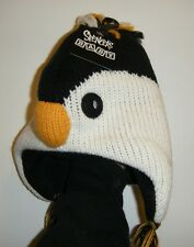 Penguin Winter Hat Baby Laplander Size 2 to 4 years Happy Feet Chilly Willie