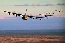 8x12 Photo of Five MC-130J Commando IIs conduct low-level formation training
