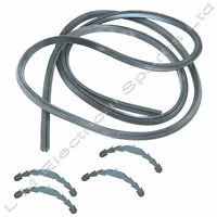 4 Side 2.1m Oven Cooker Rubber Door Seal Gasket Rounded Corner Clips For Zanussi