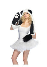 Sexy Plush Panda Bear Hood with Paw Scarf Costume Accessory Set