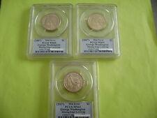 2007 WASHINGTON PCGS MS66-65-64 US MINT ERROR MISSING EDGE LETTERING DOLLAR COIN