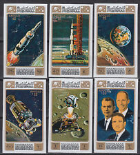Manama 1971 ** Mi.578/83 B Weltraum Space Apollo 15 Worden Scott Irwin
