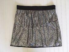 NEW GAP Silver Sequin Mini Skirt Women's Size 14  NWT $49.50