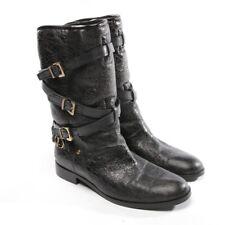 DIOR Stiefeletten Gr. D 37,5 Schwarz Damen Schuhe Boots Shoes Leder Lammfell
