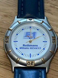Williams Renault Rothmans Formula 1 Watch Mint Very Rare Model