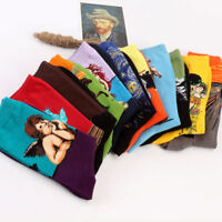 Mens Unisex Women Painting Art Casual Socks Novelty Starry Night Retro Socks