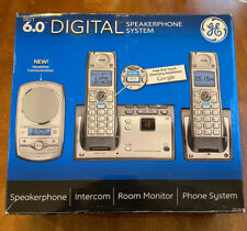 GE Dect 6.0 Digital 2 Handset Cordless Speakerphone System with Google-411