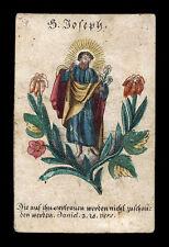 santino incisione 1800 S.GIUSEPPE dip.a mano