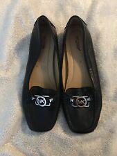 Michael Kors Shoes Black Leather / MK Logo Loafers Moccasins Flats Size 8.5 $150
