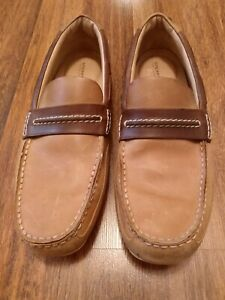 Mens size 11.5 Sperry Top-Sider brown leather driving moccasins