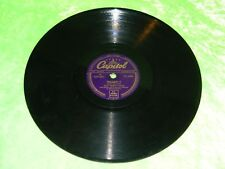 """NAT """"KING"""" COLE : Tenderly / Why - Original 1954 UK 78rpm Capitol CL14061"""