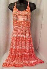 Dream Out Loud by Selena Gomez Woman's Orange/White Design Dress Size XL