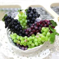 Bunch Lifelike Artificial Grapes Plastic Fake Fruit Home Decoration_QPEG