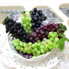Bunch Lifelike Artificial Grapes Plastic Fake Fruit Home Decoration Fl