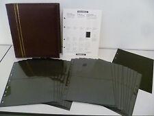 LEUCHTTURM FDC/Briefe Album OPTIMA Classic-Design, inkl. 20 XL-Hüllen,rot NEU 30