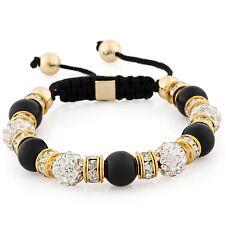 Damenarmband Damen Armband Shamballa Chakra Hippie Strass Perlen Energie Stein