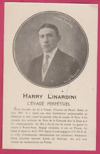 Harry Linardini Circus Escapist style Houdini magician old original postcard