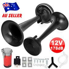 Dual Trumpet Air Horn 12V 178DB Horns Super-loud For Truck RV Car Train AU