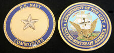 COMMODORE 0-7 CHALLENGE COIN USN PIN UP ONE STAR US NAVY ADMIRAL USS GIFT WOW
