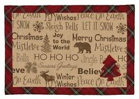 Placemat - Highland Holiday by Park Designs - Christmas - Red Green Reversible