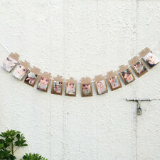 Birthday Party Baby Shower Banner Anniversary Photo Frame Gift 1-12 Months new