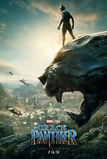Black Panther Movie Poster (24x36) - Chadwick Boseman, Michael B Jordan v2