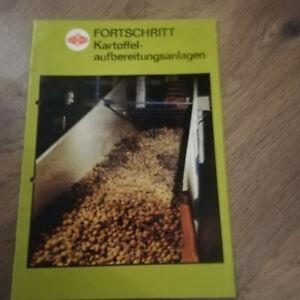 Fortschritt Prospekt Kartoffelaufbearbeitungsanlagen,DDR Landwirtschaft