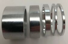 """DELUXE SILVER BIKE BICYCLE ALLOY 1 1/8"""" HEADSET SPACERS SET 2mm 5mm 10mm 20mm"""