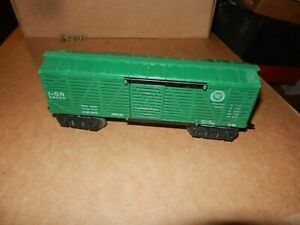 MARX #54099 Missouri Pacific Stock Car, Green, 8 Wheel,  Original