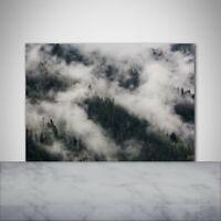 Glas-Bild Wandbilder Druck auf Glas 100x50 Deko Landschaften Nebel über dem Wald