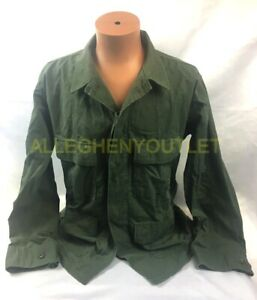 US Military Enhanced Hot Weather Camouflage BDU Shirt Coat OD Green Size M/R VGC