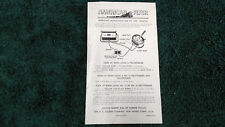 AMERICAN FLYER # 566 WHISTLE WHISTLING BILLBOARD INSTRUCTIONS PHOTOCOPY