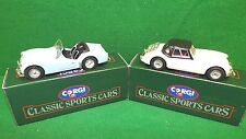 CORGI MGA AND TR3A SPORTS CARS  MINT BOXED  (C214)