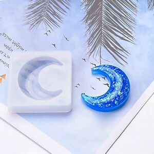 Resin Casting Heart Star Moon Epoxy Mold Silicone Jewelry Making DIY Craft-Mould