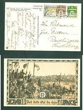 Denmark. Christmas Card 1925 With Seal. Church Cross Army, Templars. Jerusalem.