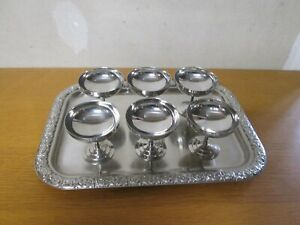 6 coupes coupelle glace vintage inox 18-10 . signé LETANG REMY