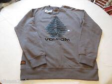 Volcom Jeans sweat shirt long sleeve  Men's gun metal pullover xlarge fleece NEW