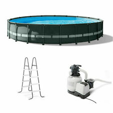 Brand New Metal Frame Set Above Ground Swimming Pool+Filter Pump+Deluxe Cover