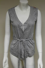 Viscose Sleeveless Crew Neck Jumpers & Cardigans for Women
