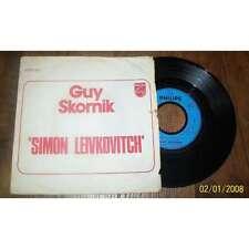 GUY SKORNIK - Simon Leivkovitch Rare French PS 7' Promo Pop 1973