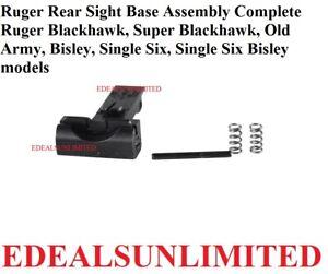 Ruger Rear Sight Base Assembly BLACKHAWK SUPER BLACKHAWK OLD ARMY BISLEY Single