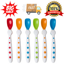 Nuk Gerber Baby Spoon Feeding Set Food Silicone Spoons New 6 Pack