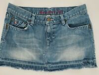 A&F Abercrombie and Fitch Distressed Jean Light Washed Skirt Women's Size 2 EUC