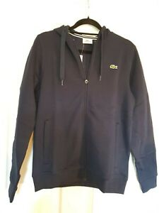 Lacoste Sports Genuine Sweatshirt Hoodie Navy Blue  Size 3 BNWT