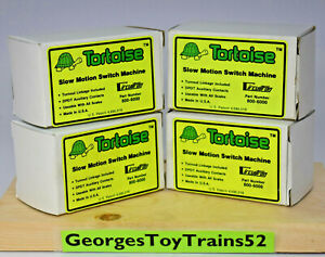CIRCUITRON  LOT OF FOUR TORTOISE SWITCH MACHINE  800-6000 ALL MINT IN BOXES