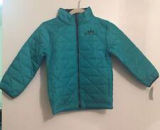 Osh Kosh B'gosh Big Boys Green Quilted Puffer Jacket Outerwear Coat Size 7 $58