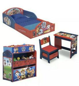 Nick Jr. PAW Patrol 4-Piece Room-in-a-Box Bedroom Set Toddler Bed,Sleep & Play